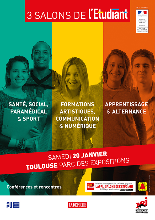Salons de l 39 etudiant de toulouse 20 janvier 2018 for Salon formation toulouse
